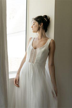 Robe de mariée Lambert Créations Blanche