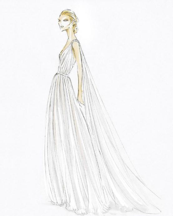 Robes de mariées droites