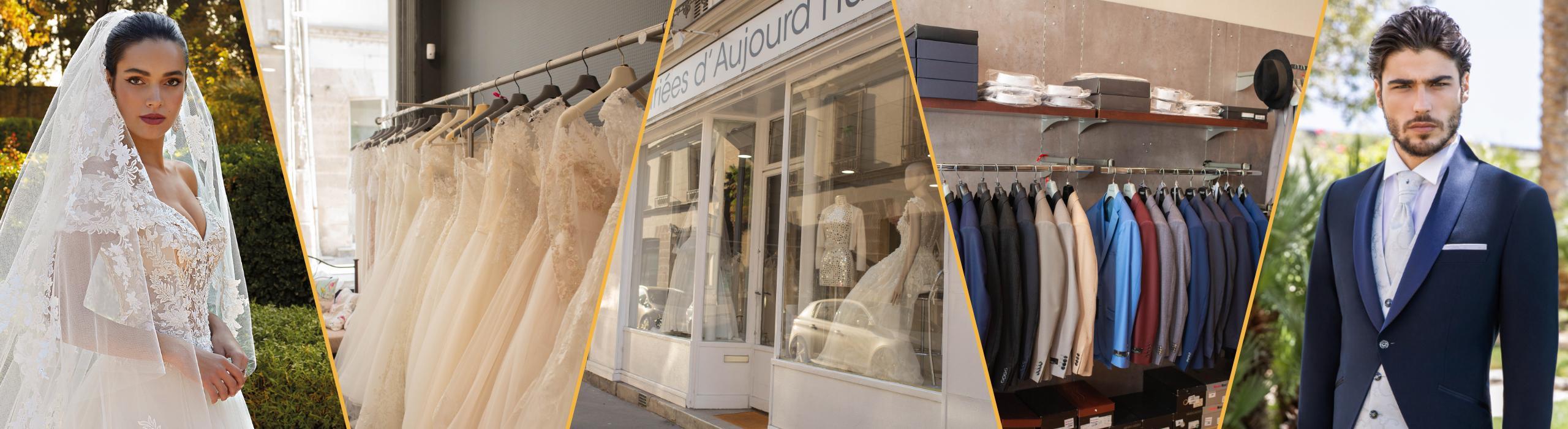 Robes et costumes de mariés